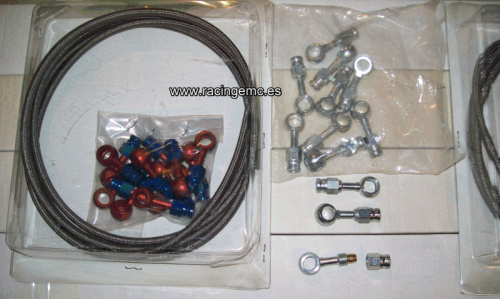 Kit Latiguillo de Freno Universal 2,5 M Acero