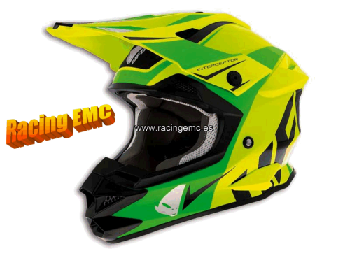 Casco Off-Road Ufo Interceptors Acid